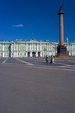 Alexander column on Palace square, St.Petersburg poster