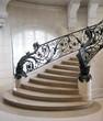 Leinwanddruck Bild - Escalier monumental, Petit Palais, Paris.