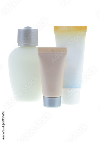 poster of Comestic products on white background