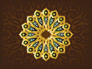 Simple Illustration for Arabic Ornamint Symbols and Backgrounds