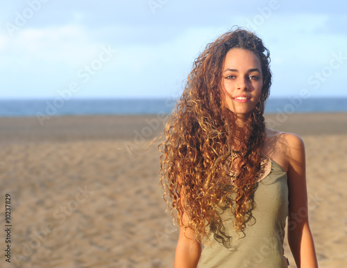 Beautiful Image of a Teen Model On the beach
