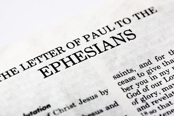A macro detail of the book of Ephesians