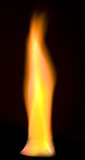 a flame over black background