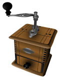 Realistic vector illustration of coffee mill poster