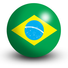 Brazilian Flag orb Button Icon