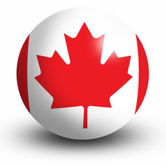 Canadian Flag orb Button Icon