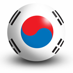 South Korean Flag orb Button Icon