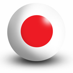 Japan Flag orb Button Icon