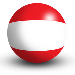 Austria Flag orb Button Icon