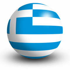 Greece flag orb Button Icon