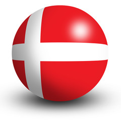 Denmark flag orb Button Icon