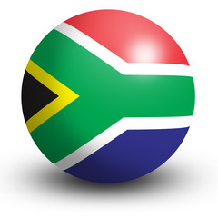 South Africa flag orb Button Icon