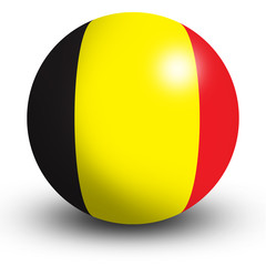 Belgium flag orb Button Icon