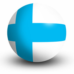 Finland flag orb Button Icon