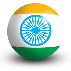 India flag orb Button Icon