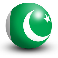 Pakistan flag orb Button Icon