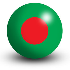 Bangladesh flag orb Button Icon