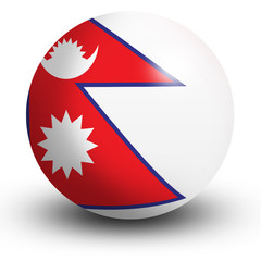 Nepal flag orb Button Icon