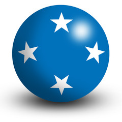 micronesia flag orb Button Icon