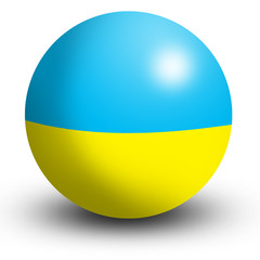 ukraine flag orb Button Icon