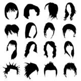 hair design vector (women and men) poster