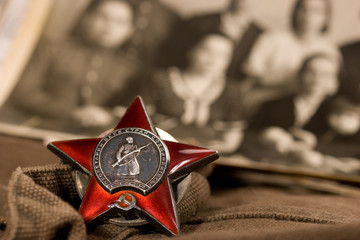 Medal of red star, memory about world war two.