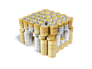 House built of euro coins