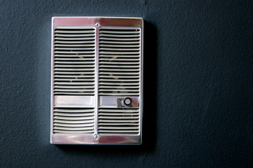Fan unit attached to a wall