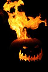 Flaming Jack O Lantern