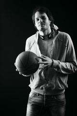 Portrait of a styled professional model. Basketball