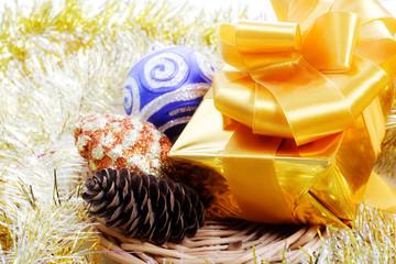 Christmas decorations (Santa gifts,adorning)