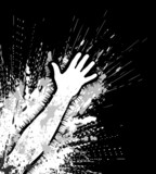 Grunge arm poster