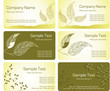Collection of business cards templates
