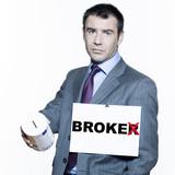 broke broker business man poster