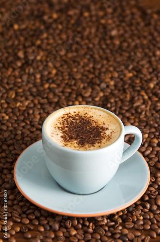 Fotobehang Cafe cappuccino