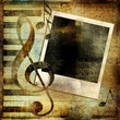 Leinwanddruck Bild vintage musical background