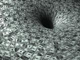 Fototapety dollar's flow in black hole