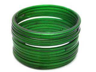 Row of green bangles