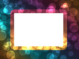 Abstract bokeh holiday lights  frame background poster