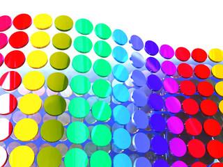 3d circles illustration; background design elements