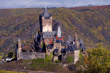 Reichsburg Castle in Moselle Valley