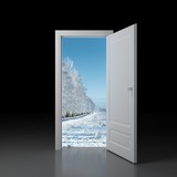 Symbolises a door during a new season, world, opportunity etc poster