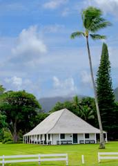 Authentic Polynesian meeting place on the island of Kauai