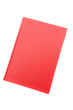 Photo of an red book on a white background