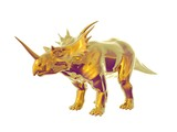 Triceratops an ancient jurassic extinct reptile of gold poster