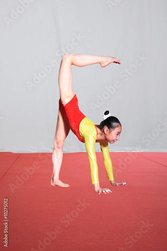 girl in gymnastics poses