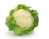 Fototapety Cauliflower isolated on white background