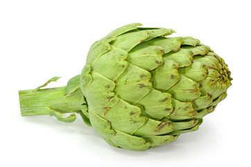 Artichoke isolated on white background, clipping path