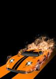 Fantastic Car Series raster illustration.-