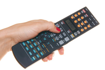 Remote control in the hand